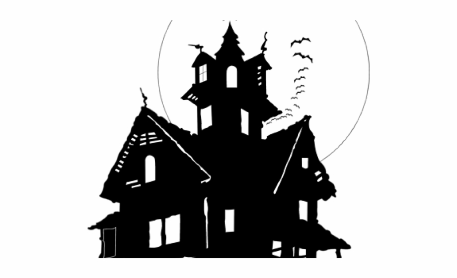 Haunted House Clipart No Background.