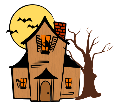 Ghost House Clipart.