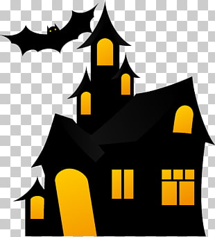 Halloween Haunted House PNG clipart.