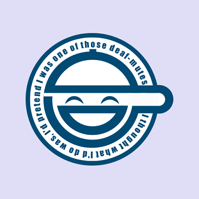 Laughing Man Ghost In The Shell Logo Decal Vinyl Sticker.