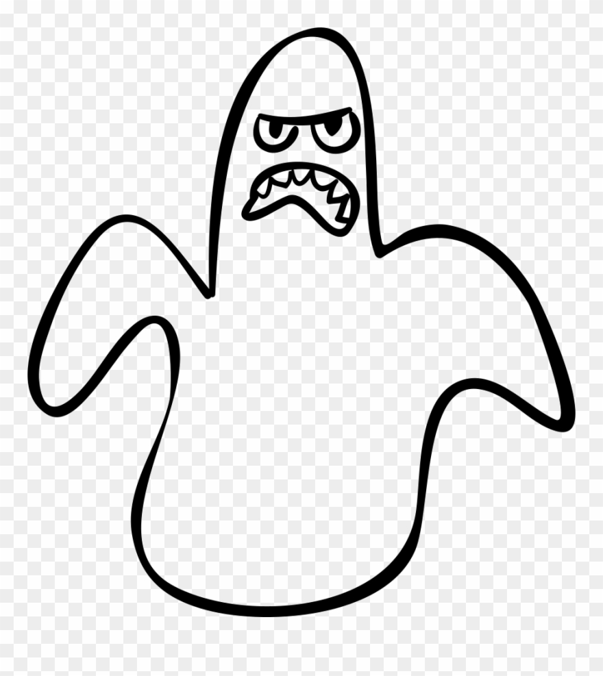 Halloween Ghost Outline Scary Shape Comments.