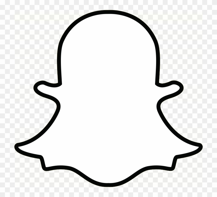 Snapchat Ghost Outline Transparent Png.