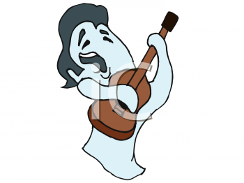 Ghost of Elvis Playing His Guitar.
