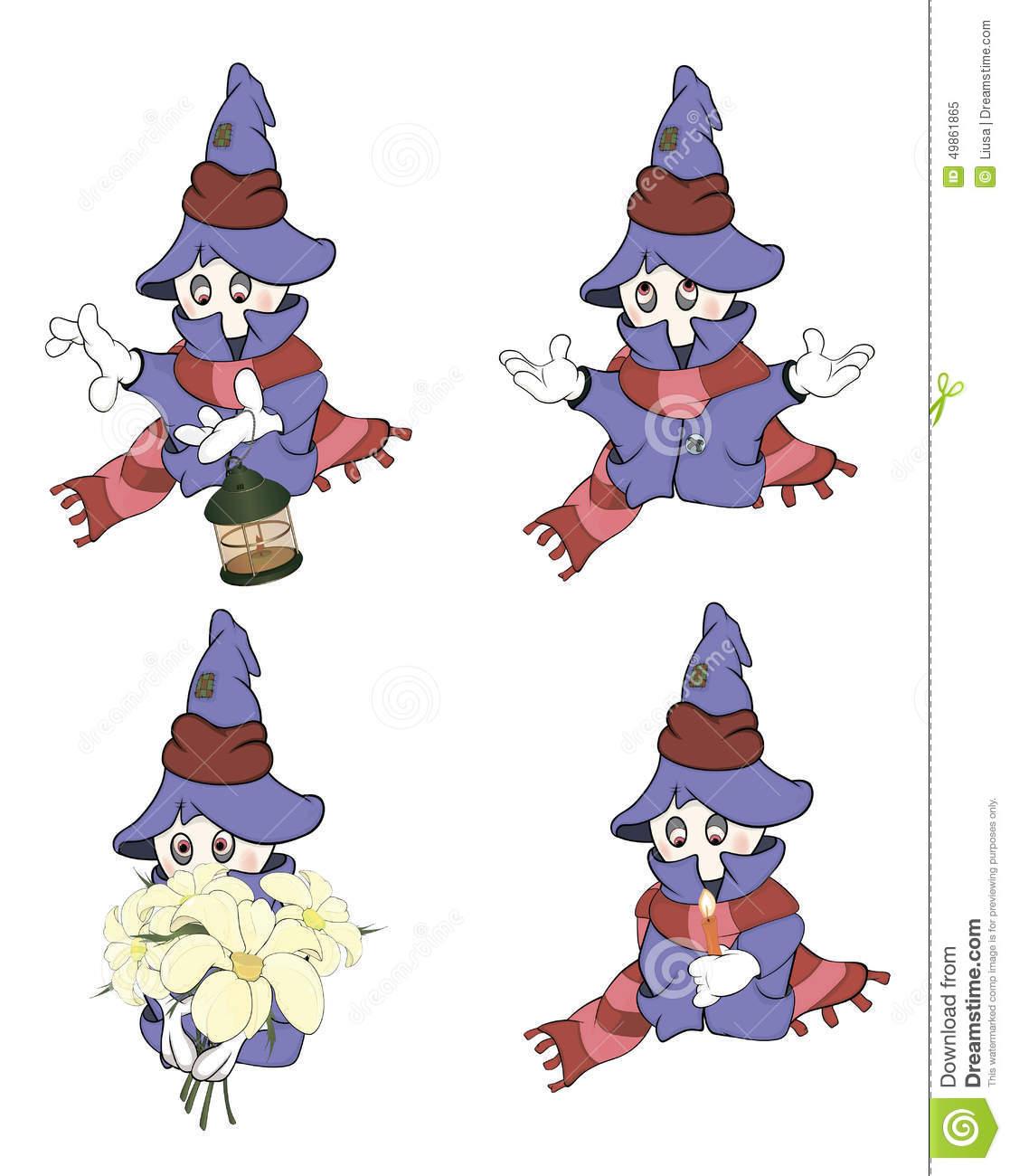 Ghosts Clip Art Cartoon Stock Vector.