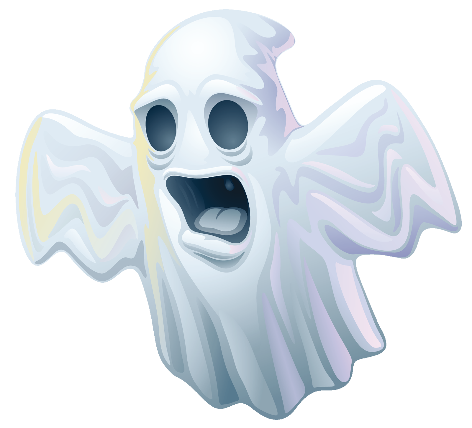 Creepy Halloween Ghost PNG Clipart.