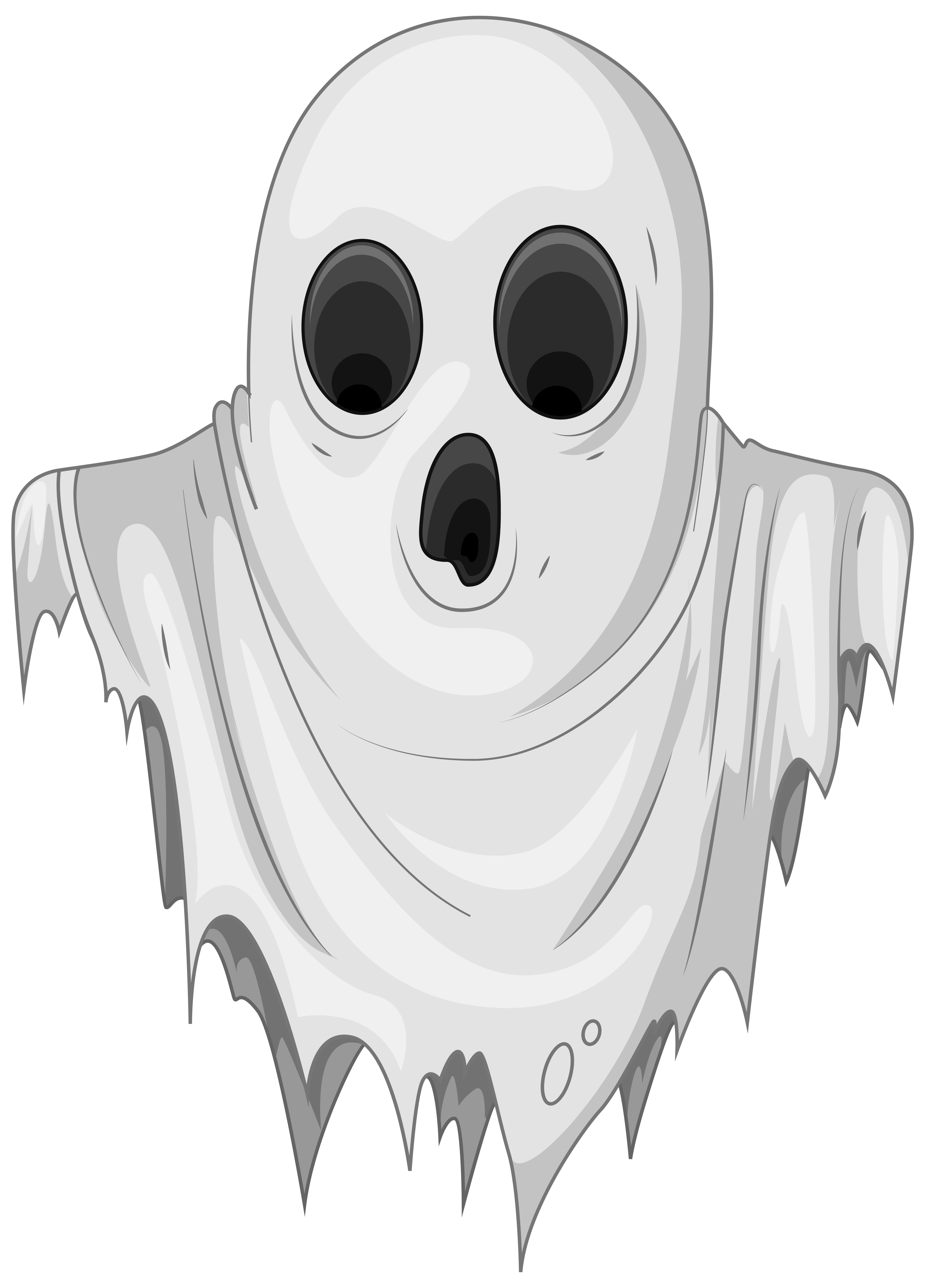 Haunted Ghost PNG Clipart Image.