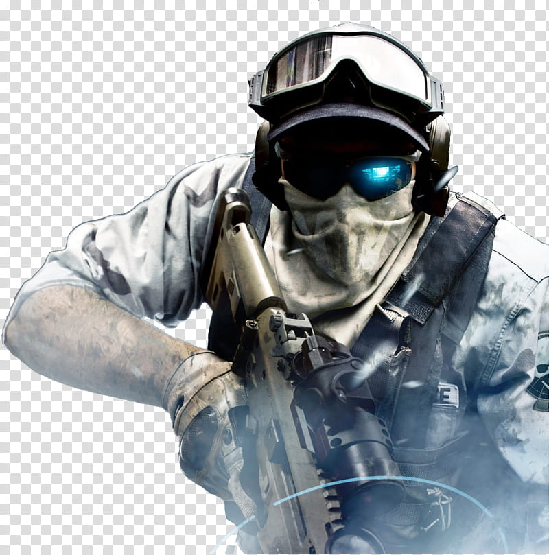 Ghost Recon Future Soldier, male soldier transparent.