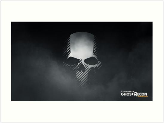 \'tom clancy\'s ghost recon wildlands Skull logo\' Art Print by Vaus.