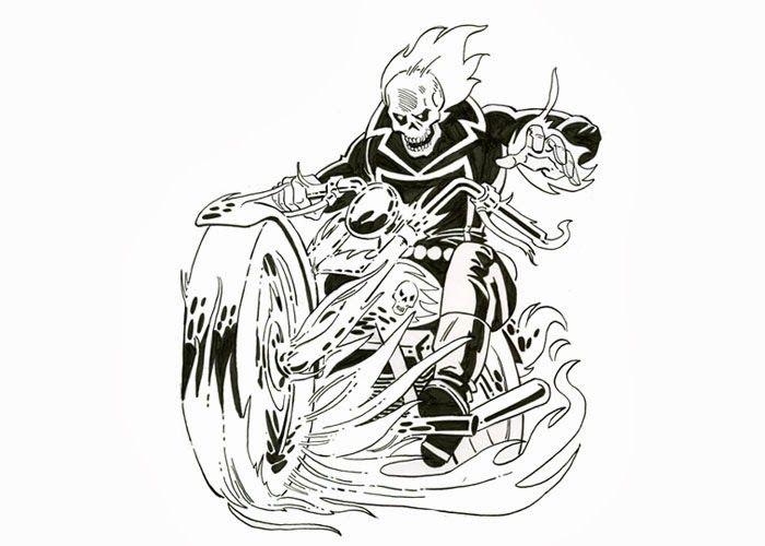 Ghost Rider Clip Art.