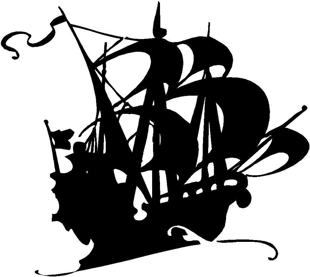 Images For > Pirate Ship Silhouette.