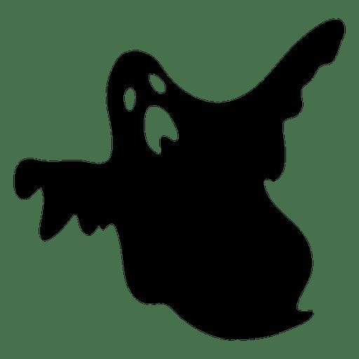 Silhouette Ghost Clip art.