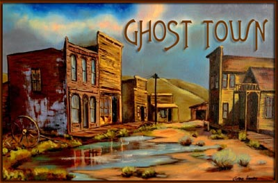 Ghost town clipart.