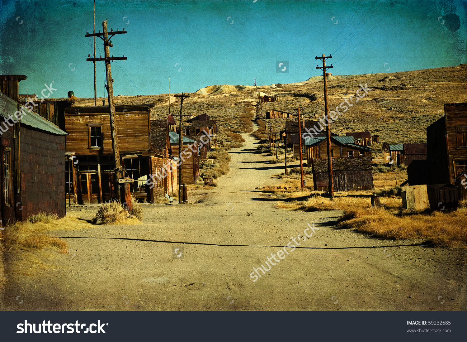 Wild West Ghost Gold Town Grunge Stock Photo 59232685.