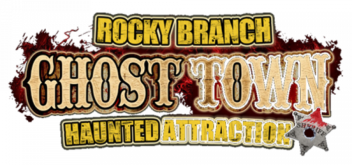 Rocky Branch Ghost Town Logo Design.