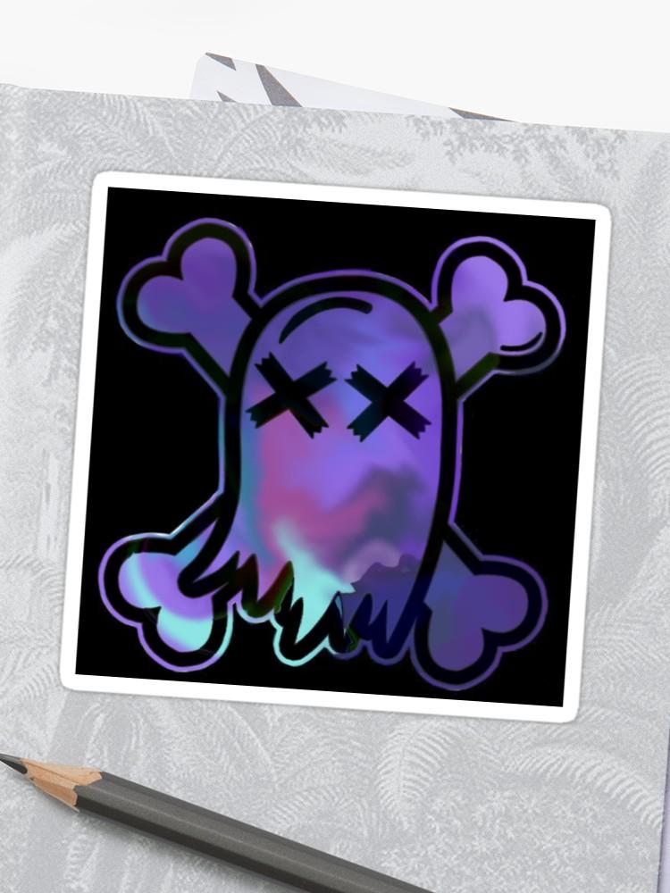 \'Ghost town logo/ swirled \' Sticker by Gayyllama.
