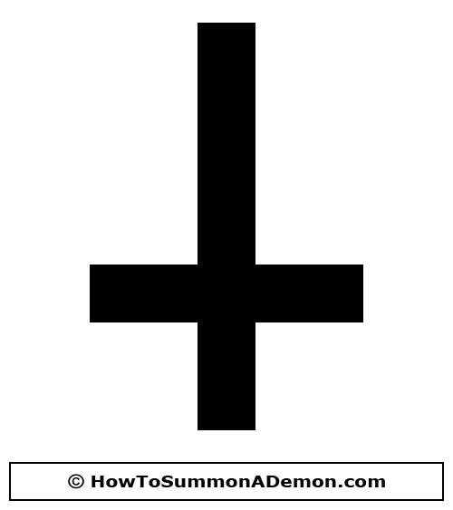 Upside Down Cross Clip Art.