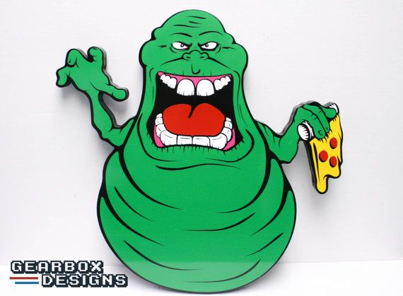Ghostbusters Slimer Wall Art Over 16 inches by.