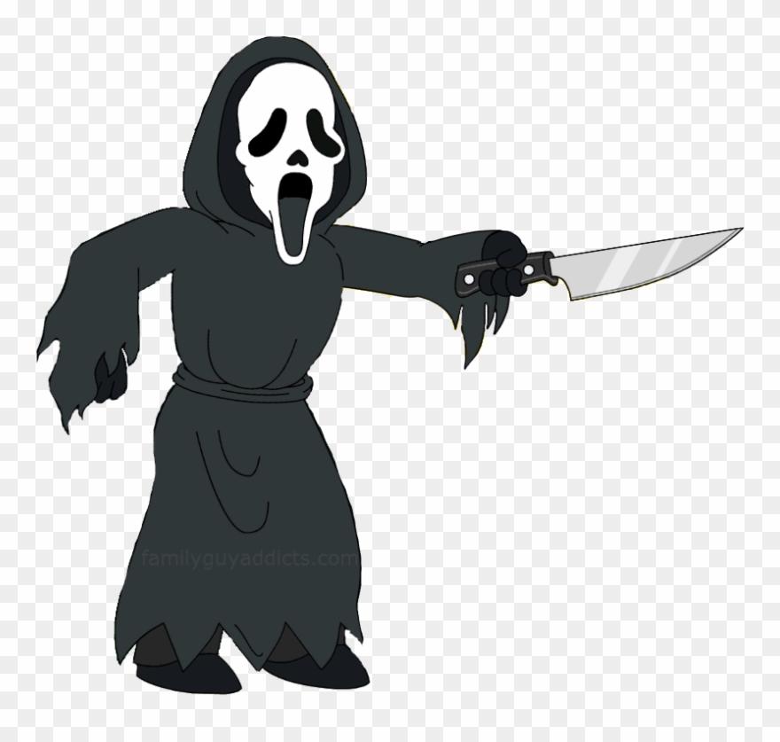 Cartoon Ghost Face.