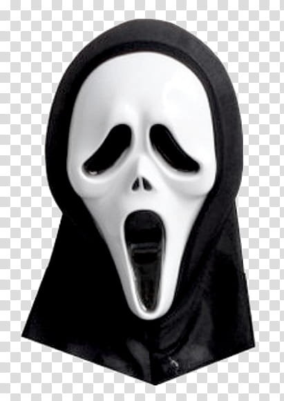 BLACK RESOURCESFORBITCHES, ghostface mask transparent background PNG.