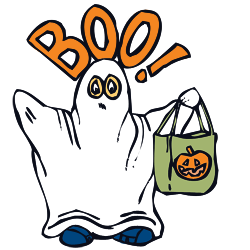 Ghost Clipart and Vector Graphics for Halloween.