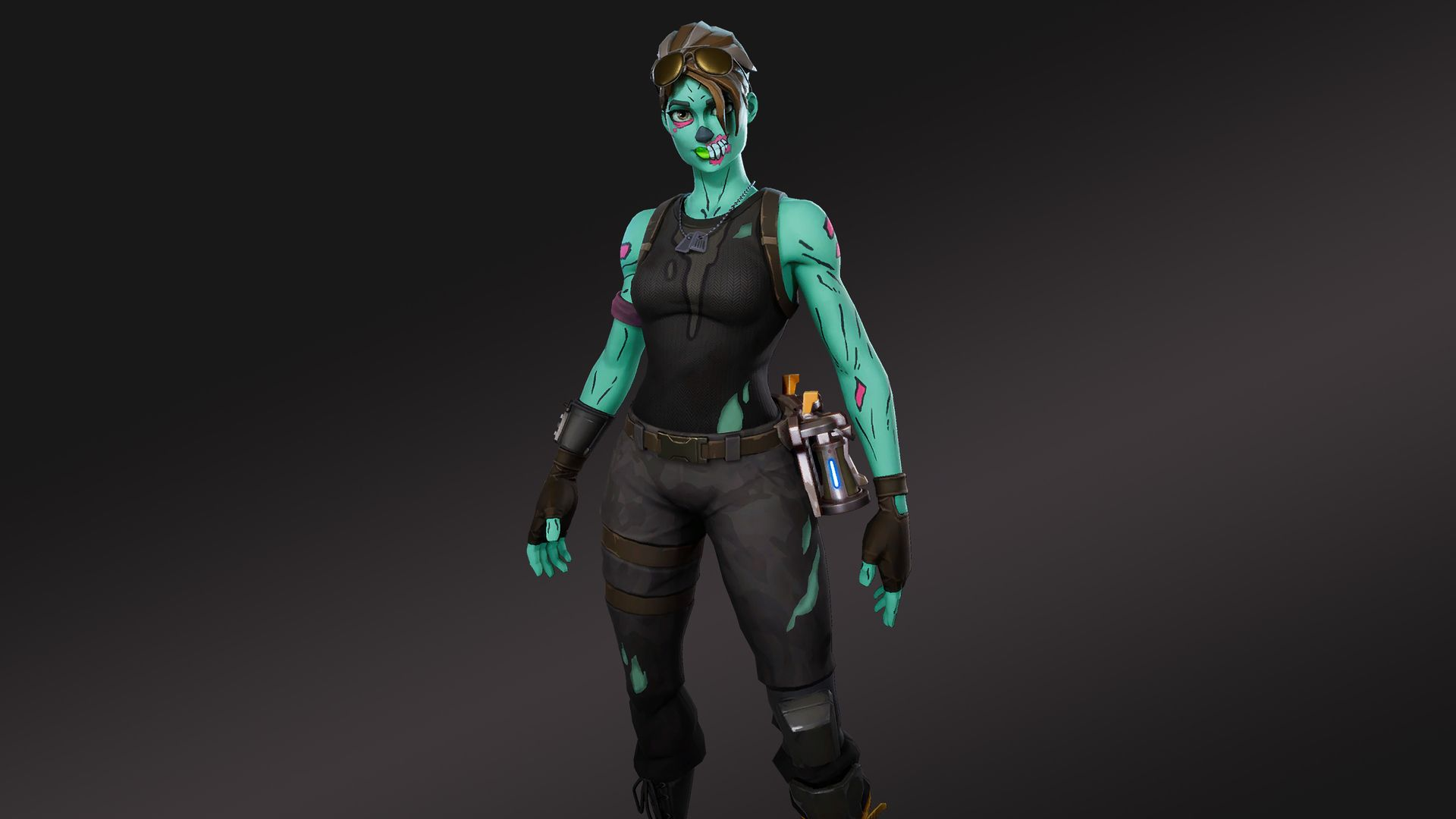 1920x1080 HD Wallpaper of Ghoul Trooper Fortnite Battle Royale Video.