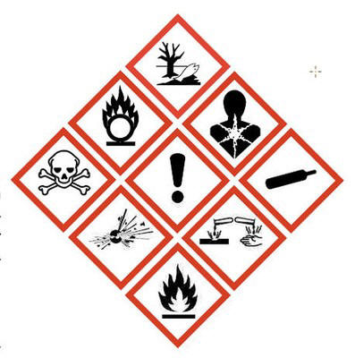 New Chemical Labels for GHS Classification Labeling.