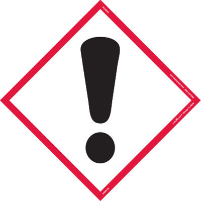 Exclamation Mark Pictogram Tank Placards.