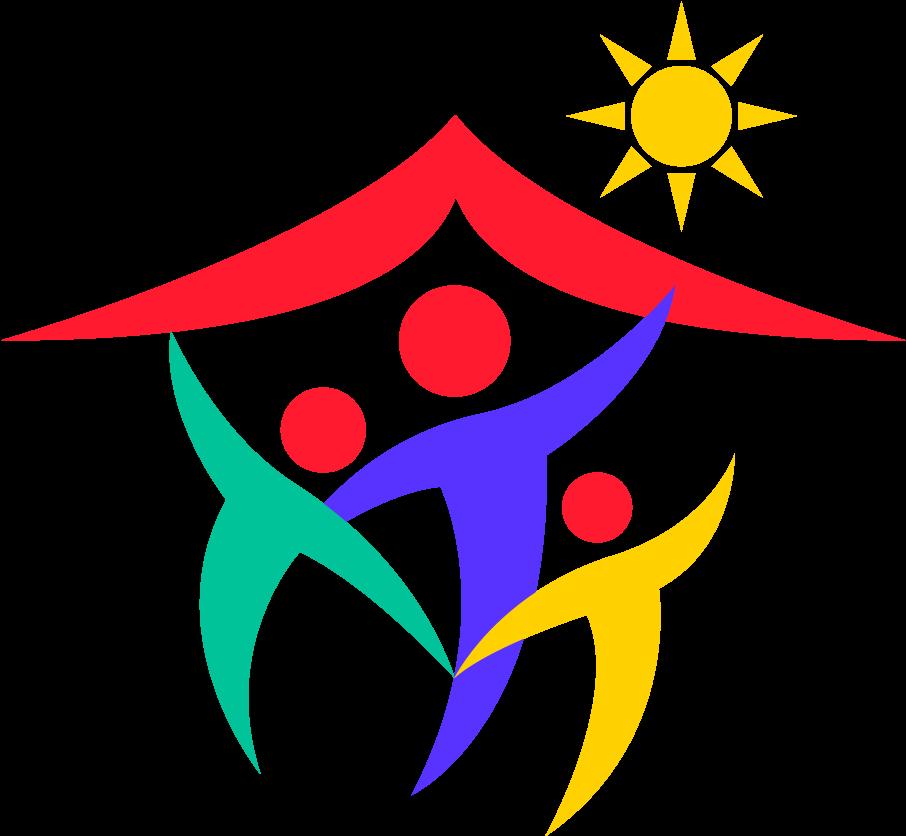 Happy Family Logo Clipart.