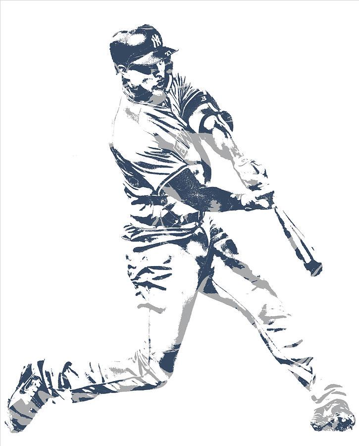 Giancarlo Stanton New York Yankees Pixel Art 3.
