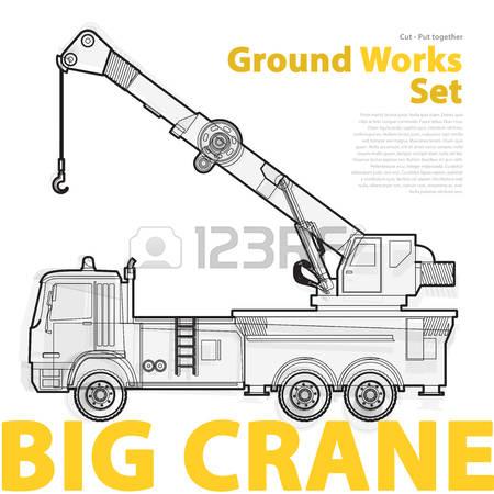 Big Crane Stock Vector Illustration And Royalty Free Big Crane Clipart.