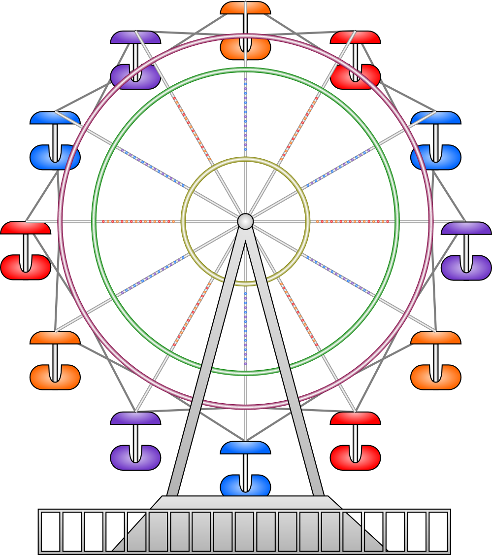 Giant wheel clipart.