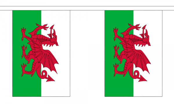 Wales GIANT Flag 18m Bunting.