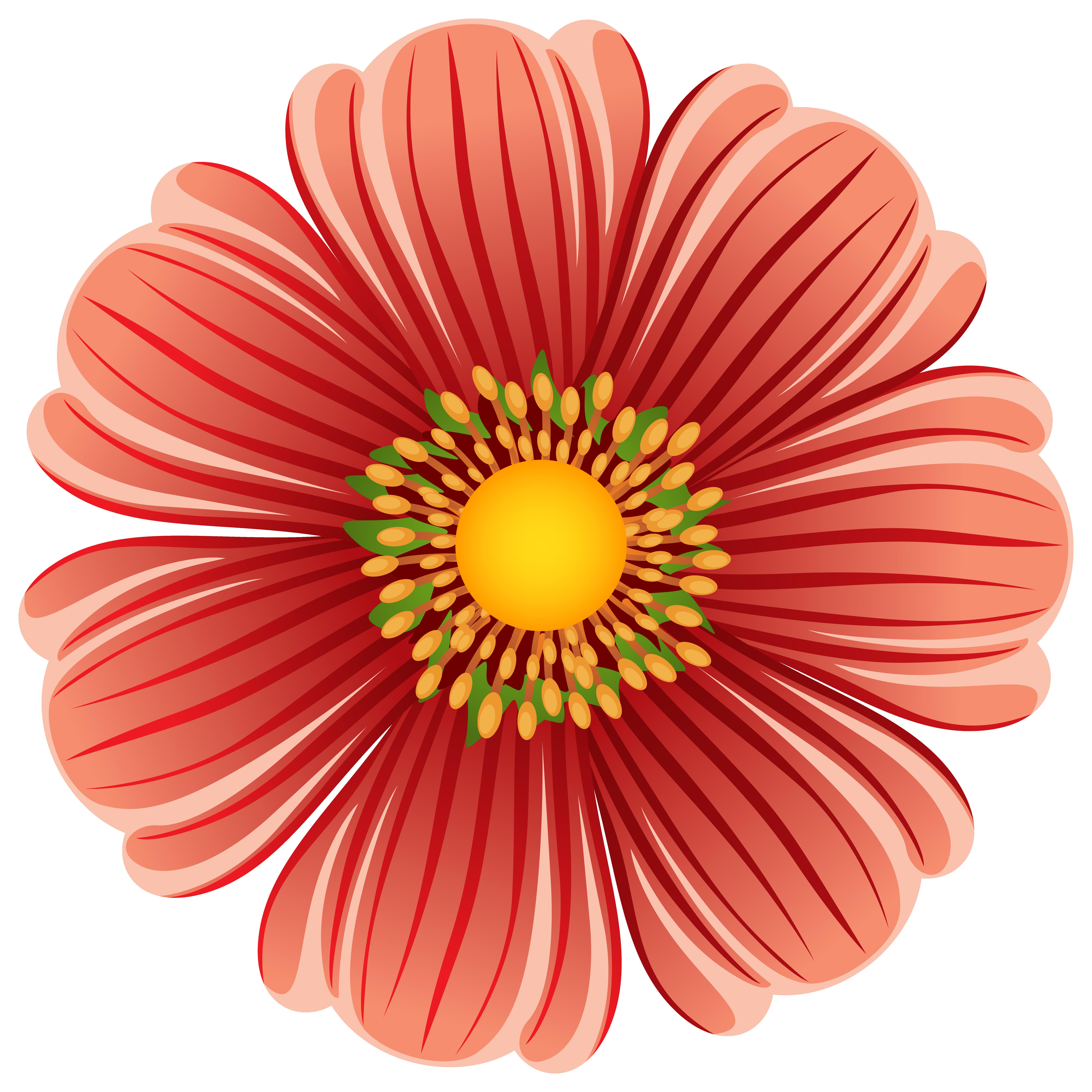 Large Flower Transparent PNG Clip Art Image.