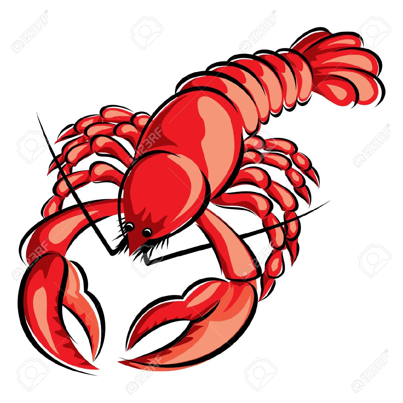 Animated lobster clipart.