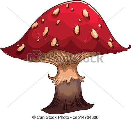 Vector of A giant red mushroom.