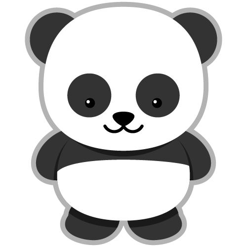 Giant panda clipart free clipart images.