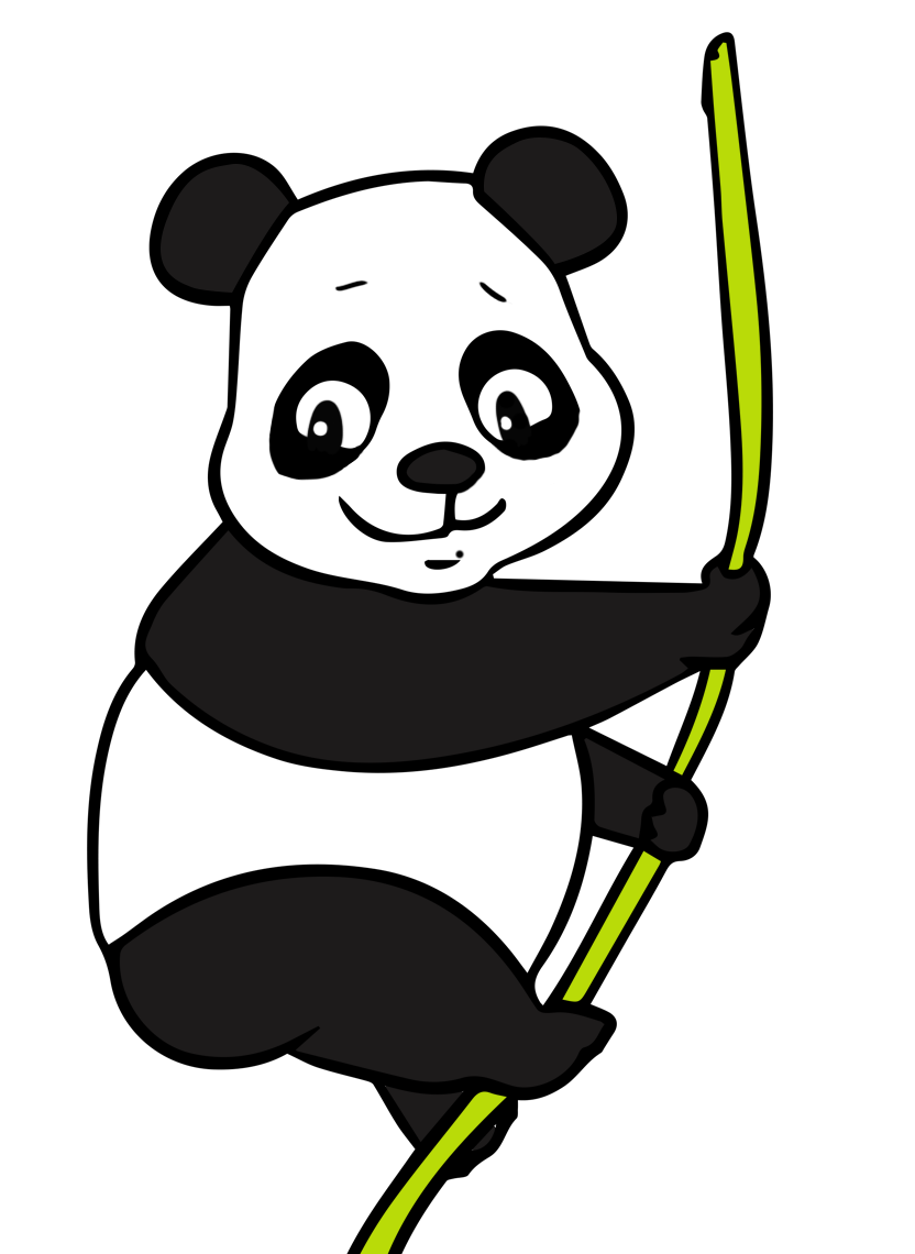 Giant panda clipart free images.