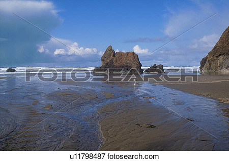 Giant Rocks In Water Clipart.