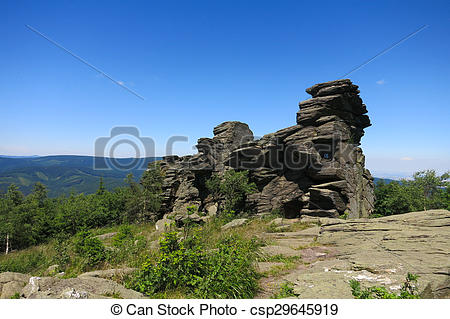 Stock Photography of Frost Scarp Obri skaly (Giant Rocks) in.