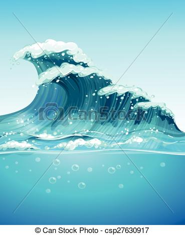 Vector Clip Art of Wave.