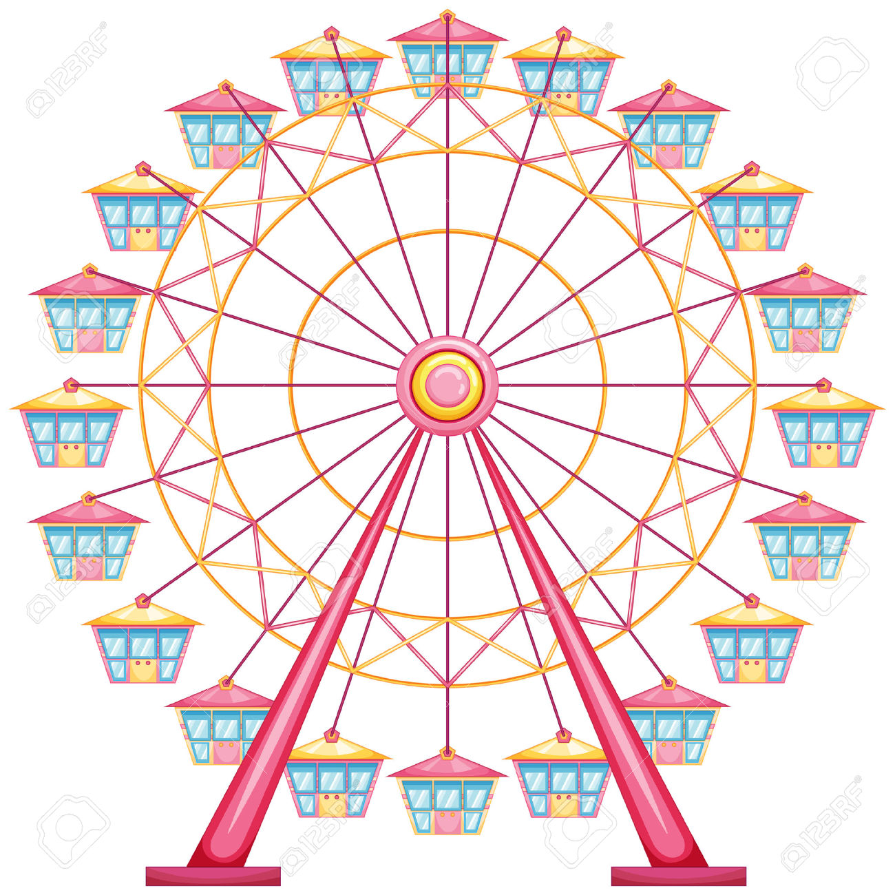 Simple Ferris Wheel Drawing at GetDrawings.com.