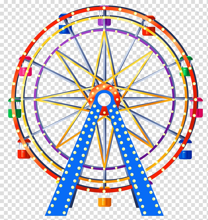 Ferris wheel , london eye transparent background PNG clipart.