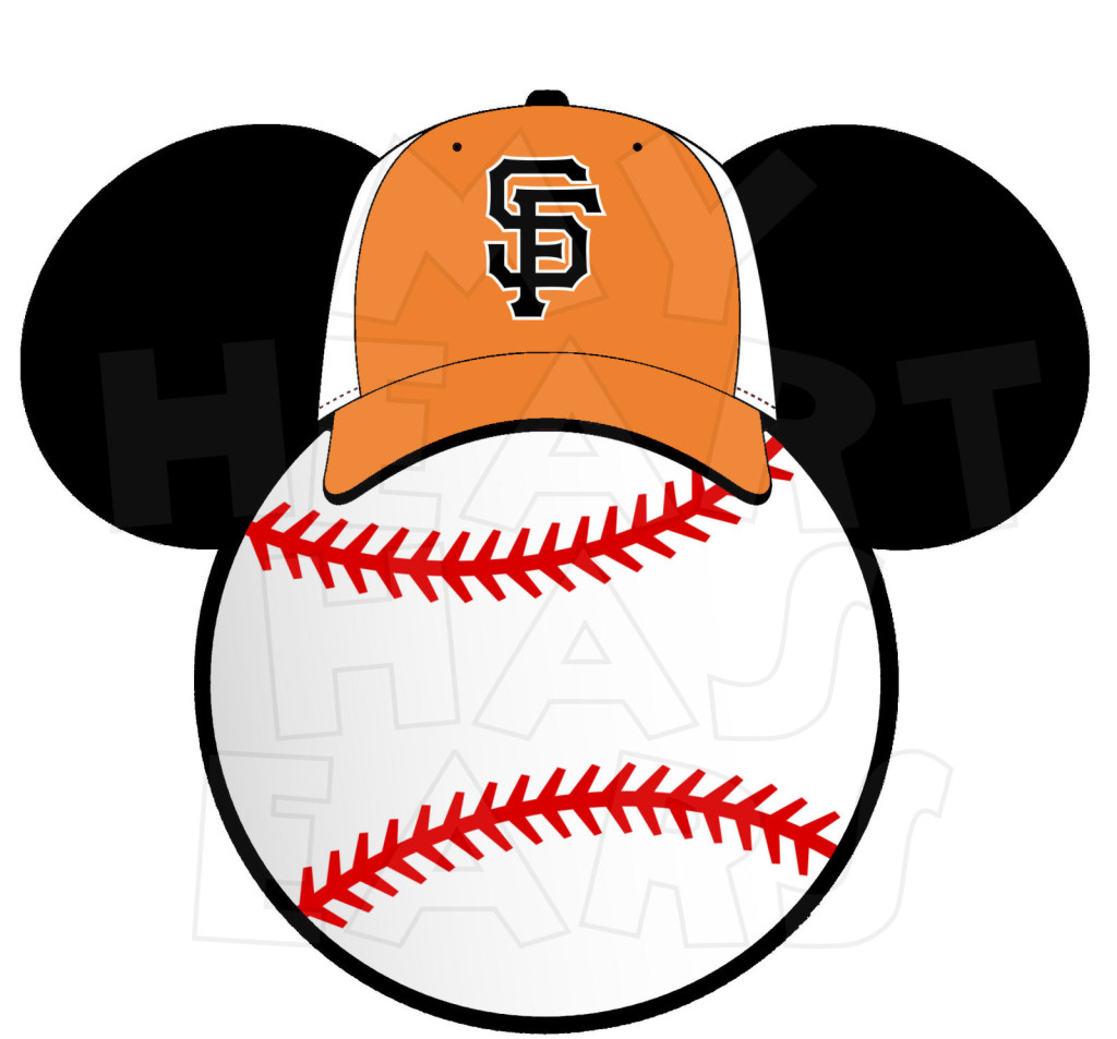 San Francisco Giants baseball with Mickey Mouse INSTANT.