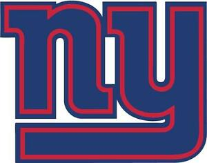 Details about NY Giants New York NFL Football Team Logo 2 Color DECAL Car  Window Sticker.