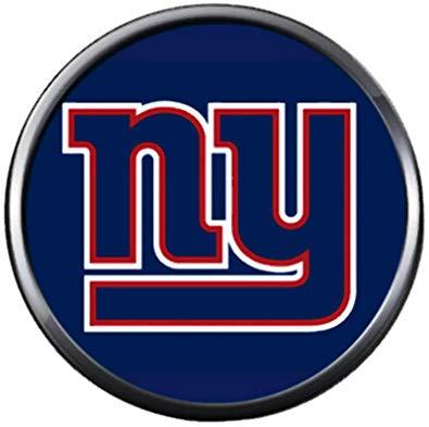 Amazon.com: NFL New York NY Giants Logo On Blue Football.