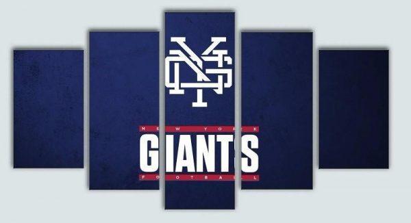 New York Giants Logo Poster Football Canvas Wall Art.