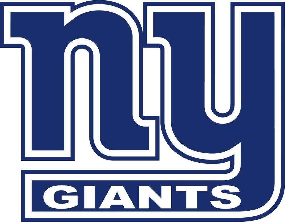 New York Giants NY Logo Window Wall Decal Vinyl Car Sticker.