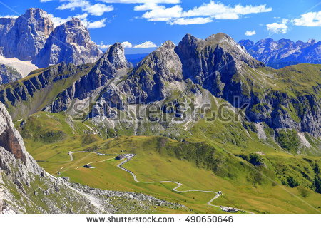 Great Dolomites Road Stock Photos, Royalty.