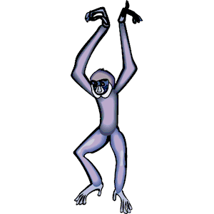 Gibbon 1 clipart, cliparts of Gibbon 1 free download.