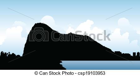 Rock gibraltar Vector Clipart Illustrations. 8 Rock gibraltar clip.